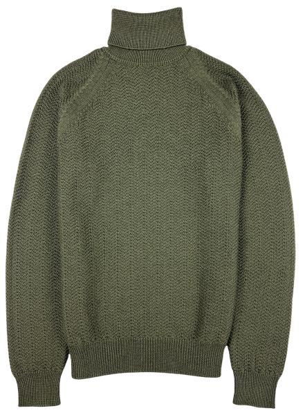 Jacob Cohen Knitted Turtleneck - Olive Green