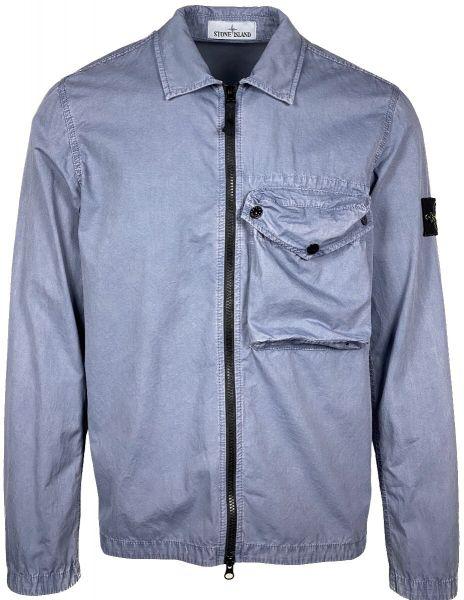 Stone Island Overshirt - Blue/Grey