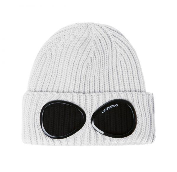 C.P. Company Extra Fine Merino Wool Goggle Beanie - Sandshell