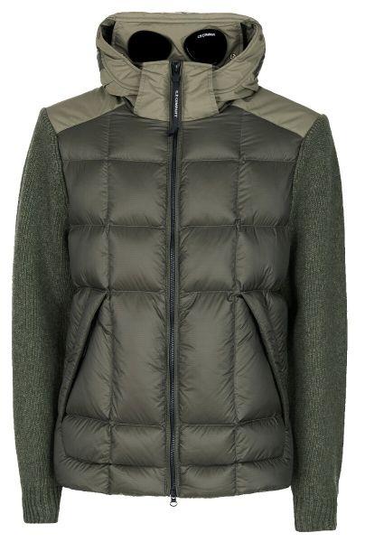 C.P. Company Lambswool/Nyl Goggle Jacket - Green