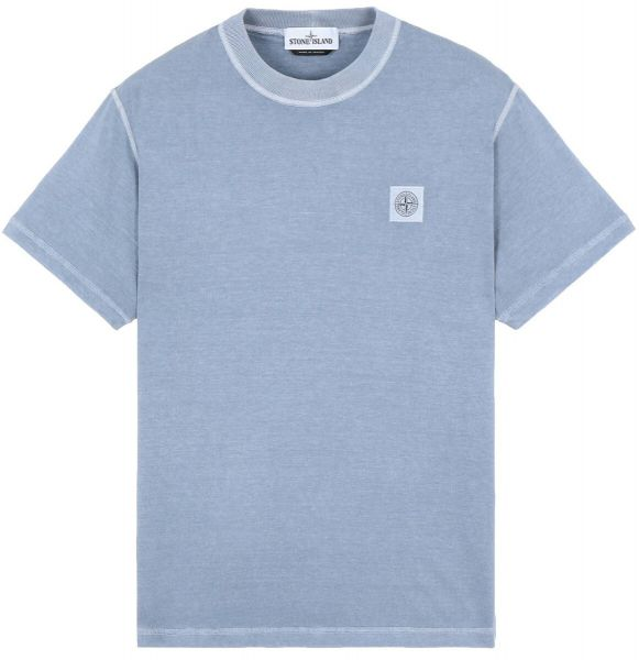 Stone Island Fissato Effect T-Shirt - Grey/Blue