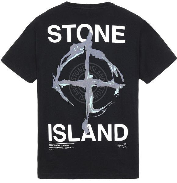 Stone Island Backprint T-Shirt - Black