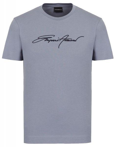 Emporio Armani Signature T-Shirt - Blue/Grey