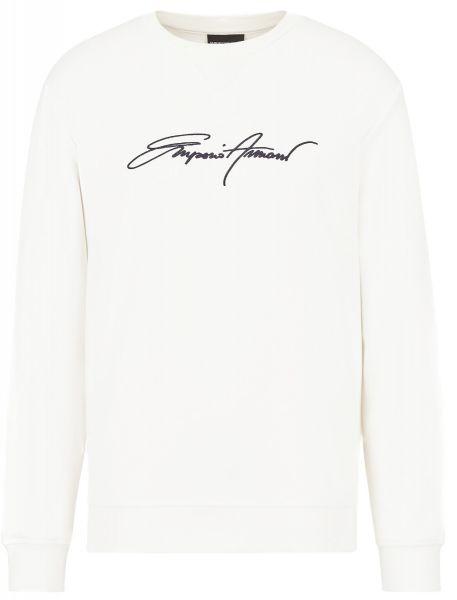 Emporio Armani Signature Sweater - White
