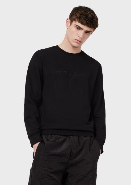Emporio Armani Signature Sweater - Black