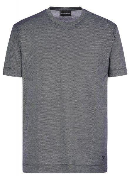 Emporio Armani Jacquard Motif T-Shirt - Black