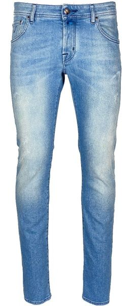 Jacob Cohen J622 - Comfort Jeans - Slim Fit - Light Blue Damaged With Paint