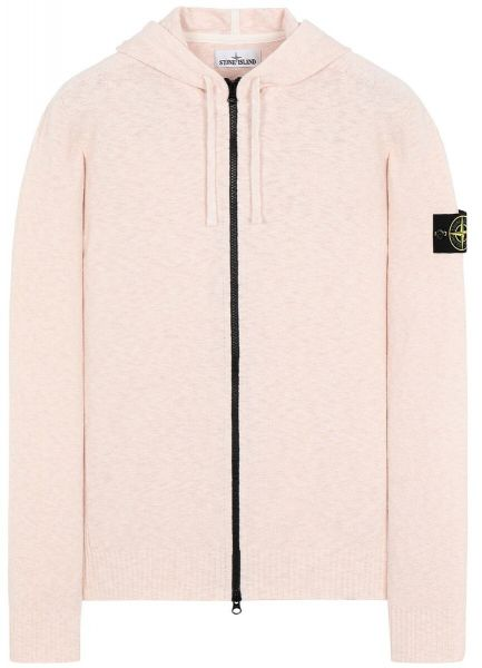 Stone Island Knitted Hooded Cardigan - Pink