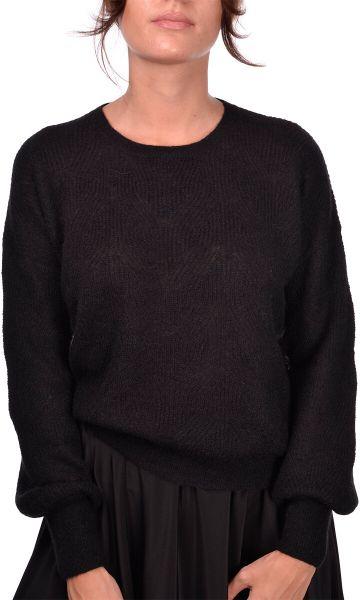 Gran Sasso Knit Stich Crewneck - Black