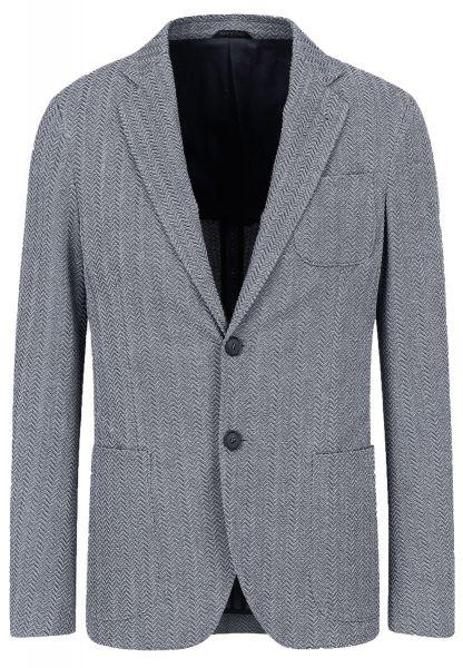 Giorgio Armani Jacket In A 3D-Effect Fabric - Grey