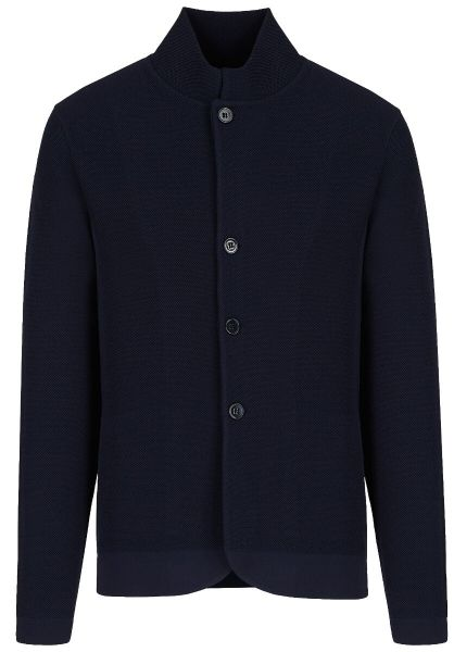 Emporio Armani Knitted Jacket - Navy