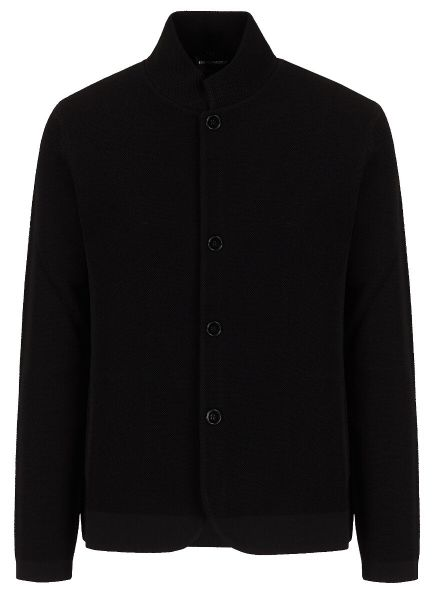 Emporio Armani Knitted Jacket - Black