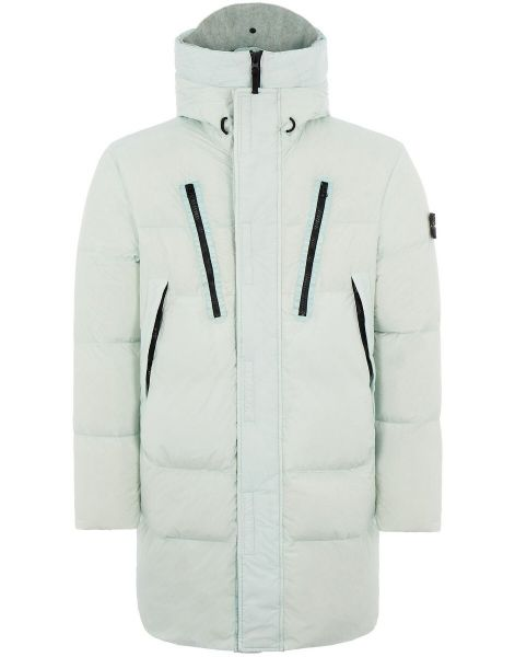 Stone Island Garment Dyed Crinkle Reps Jacket - Ice Green