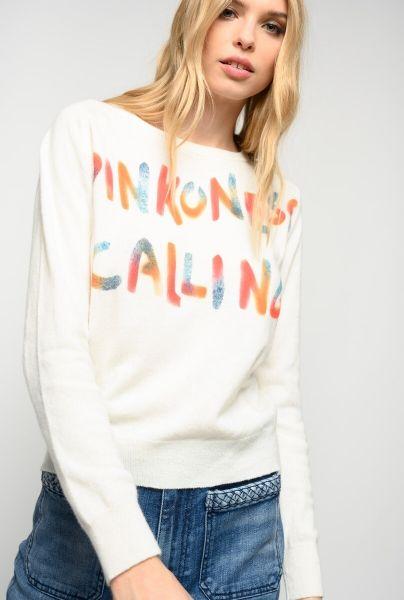PINKO Pinkoness Cashmere Mix Sweater - Off White