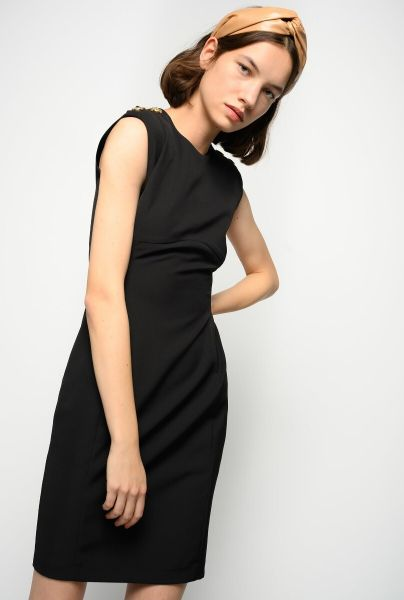 Pinko Sheath Dress With Gold Buttons