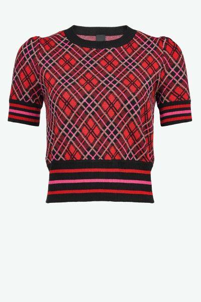 Pinko Check Jacquard Sweater