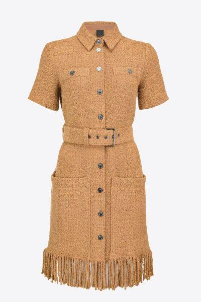 Pinko Fringed Tweed Mini Dress