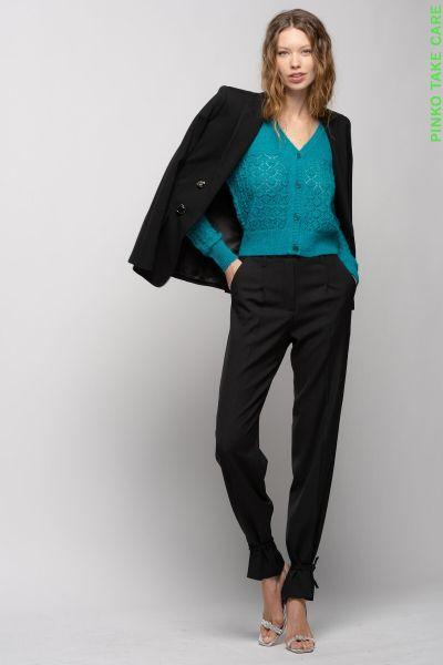 Pinko Punto Milano Blazer With Jewel Buttons - Black