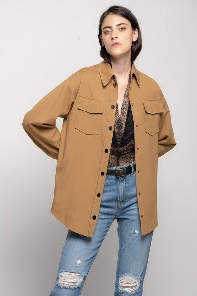 Pinko Utility Shirt Jacket - Rubber Brown