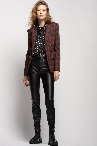Pinko Leather Effect Trousers With Love Birds Belt