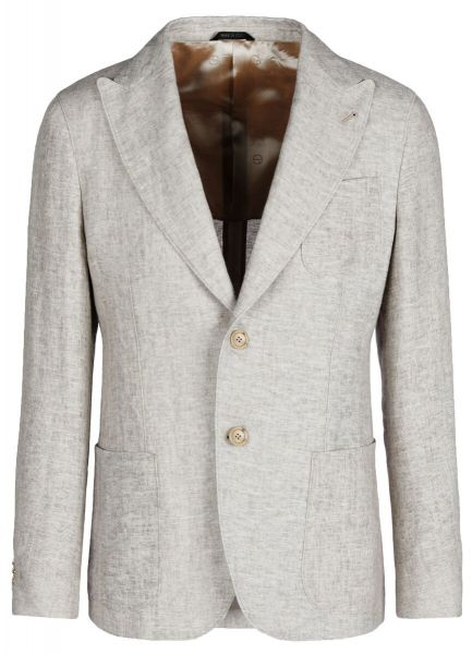 Giorgio Armani Cold Dyed Linen Jacket - Grey
