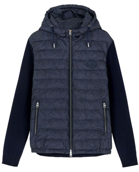 Etro Paisley Guilted Jacket - Navy Blue