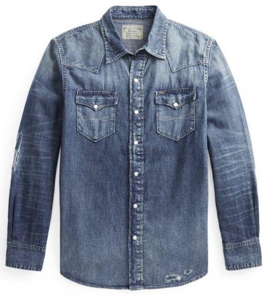 Ralph Lauren Western Denim Shirt - Blue