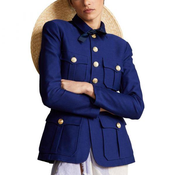 Ralph Lauren Jersey Stretch Blazer - Fall Royal