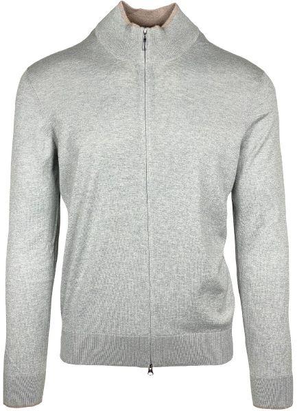 Cellini Cotton/Casherme Cardigan - Light Grey