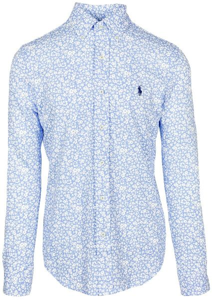 Ralph Lauren Flower Print Shirt - Harbor Island Blue