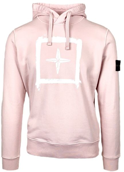Stone Island Double Logo Hoodie - Pink