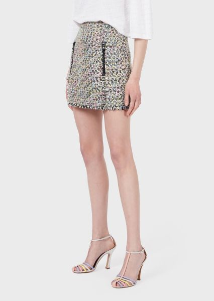 Emporio Armani Multicoloured Tweed Skirt