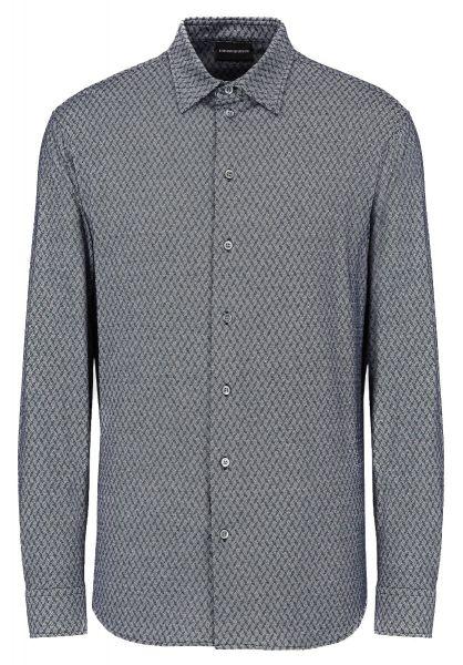 Emporio Armani Jacquard Shirt - Blue