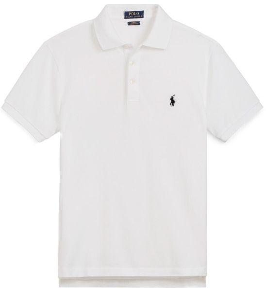 Ralph Lauren Stretch Mesh Slim-Fit Polo - White