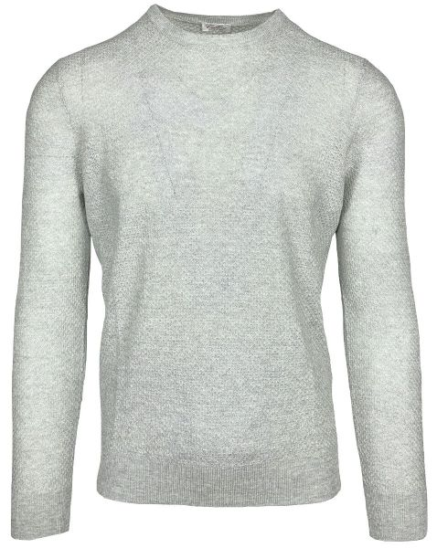 Cellini Linen/Cotton Pullover - Light Grey