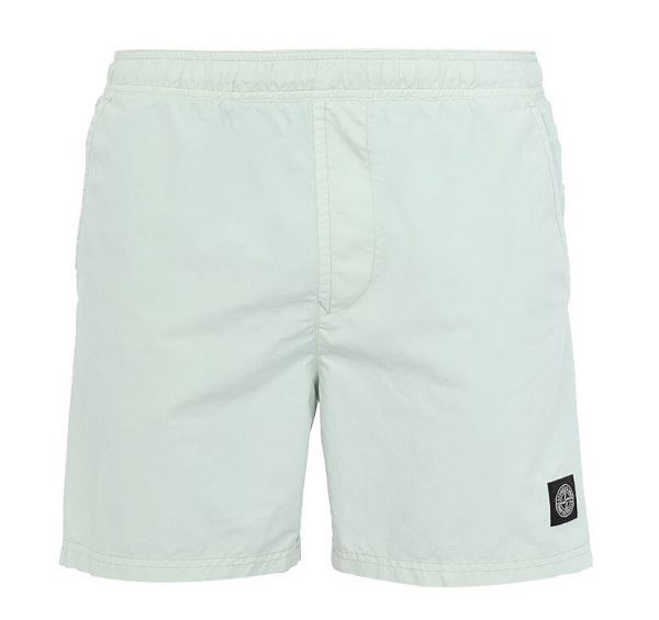 Stone Island Brushed Nylon Swimshorts - Light Green