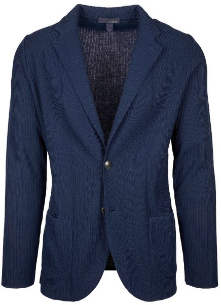 Lardini Knitted Jacket Striped - Dark Blue