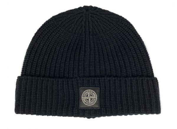 Stone Island Wool Hat - Black