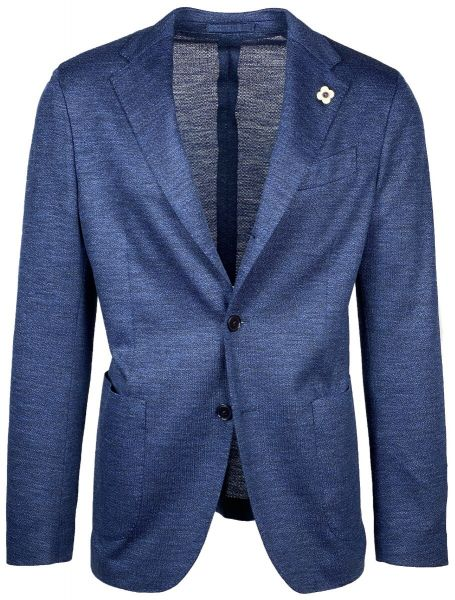 Lardini Easy Wear Blazer - Blue Mixed