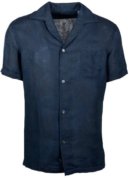 Lardini Short Sleeve Shirt - Dark Blue