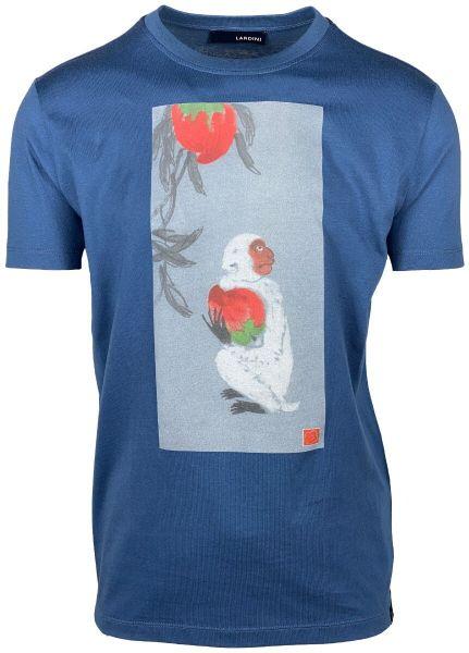 Lardini Print T-Shirt - Mid Blue
