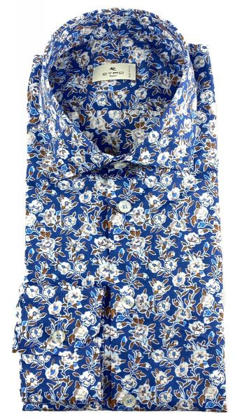 Etro Shirt Flower Print - Blue