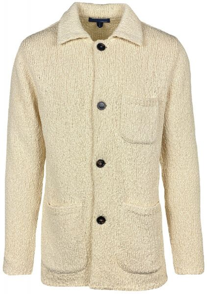 Lardini Knitted Cotton Cardigan - Off-White
