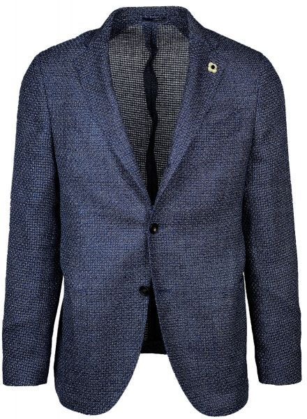 Lardini Wool/Linen/Cotton Jacket - Blue