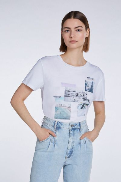 Set T Shirt With Print - Bright White