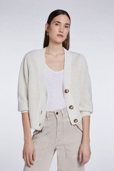 SET Cardigan - White Camel