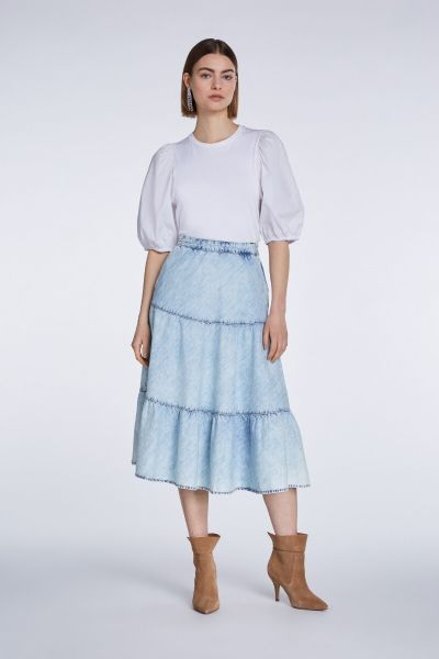 SET Denim Skirt - Italian Blue