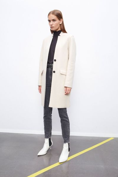 Set Overcoat - Ecru
