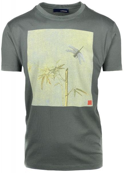 Lardini Print T-Shirt - Grey/Green