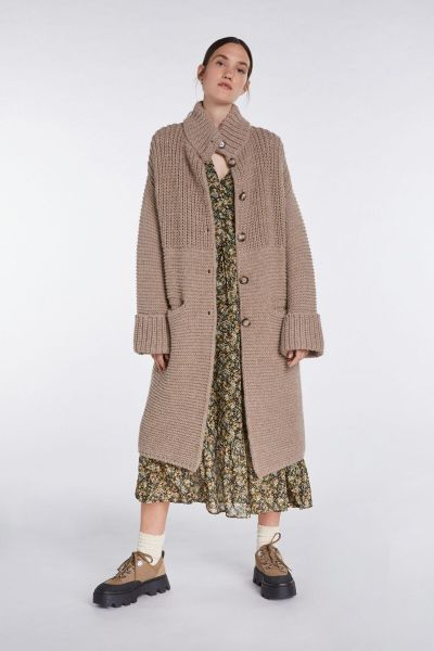 SET Knitted Cardigan - Taupe